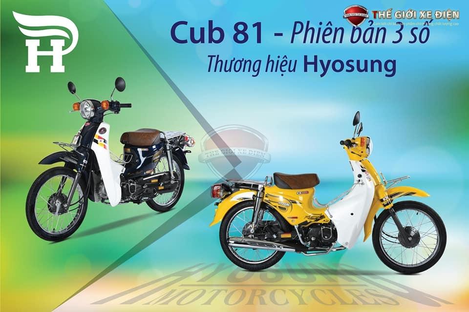 cub hyosung 50cc phiên bản 3 số