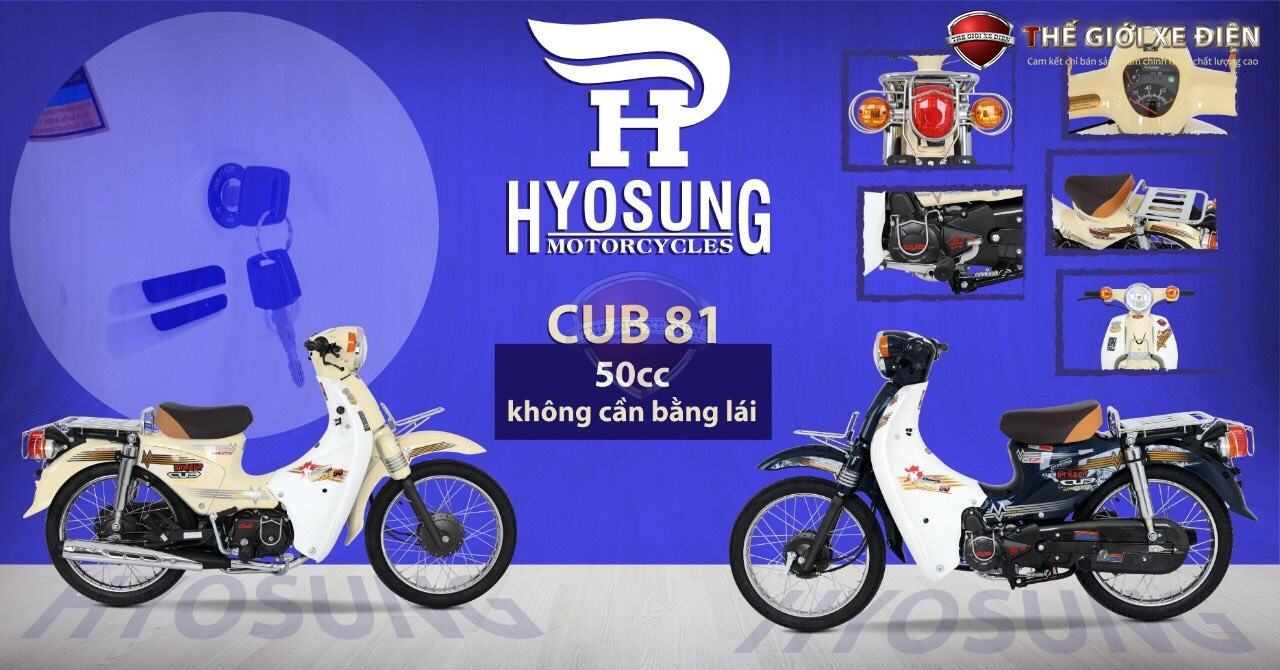 xe cub 50cc hyosung