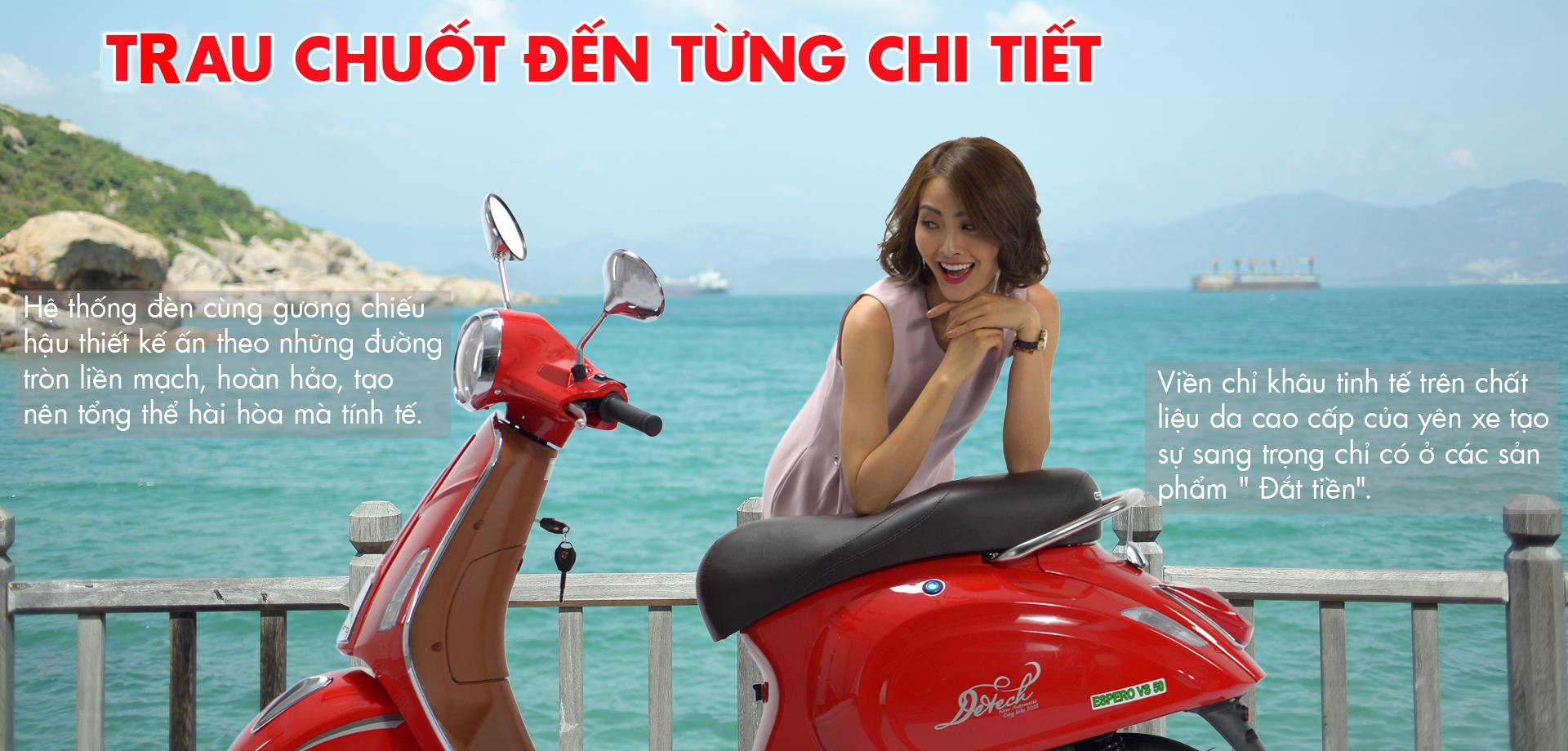 Thời thượng, sang trọng với xe máy 50cc Espero