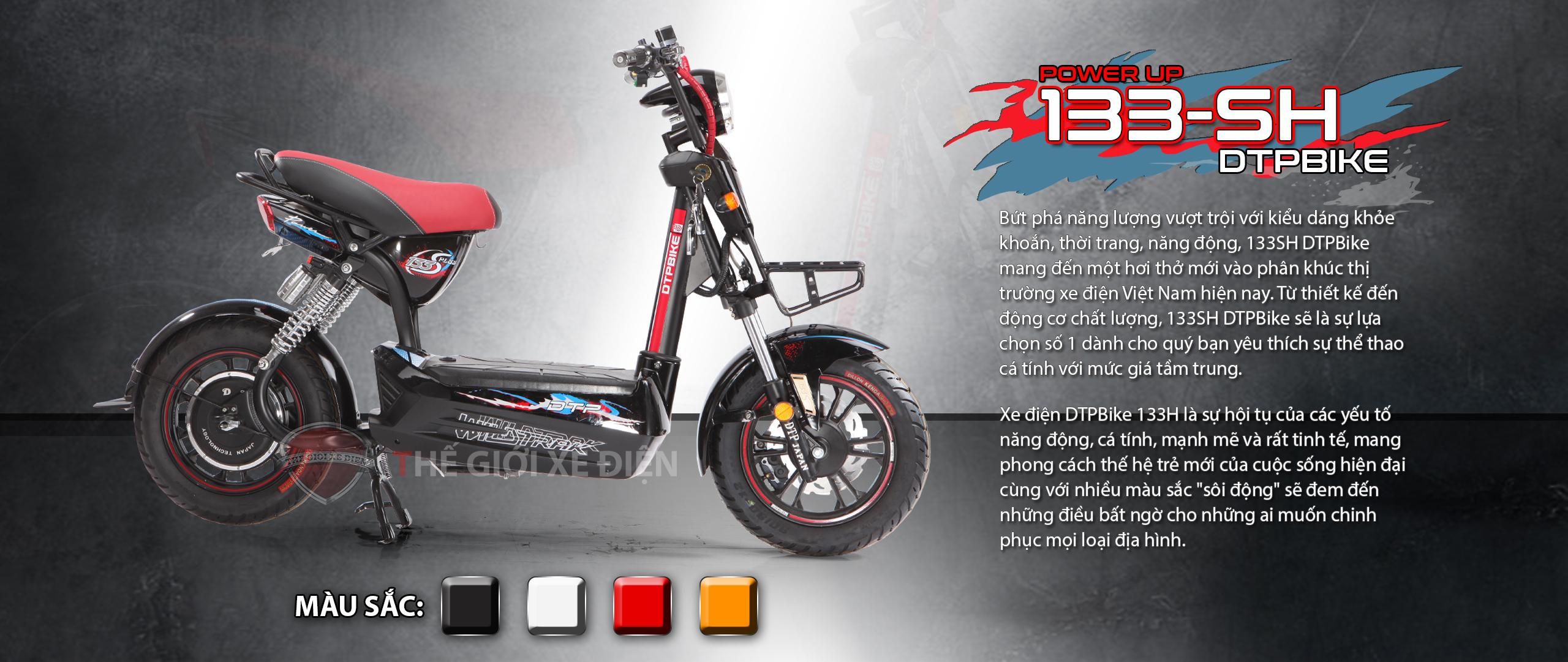 Xe điện DTPBike 133SH phiên bản cải tiến mới nhất dành cho giới trẻ