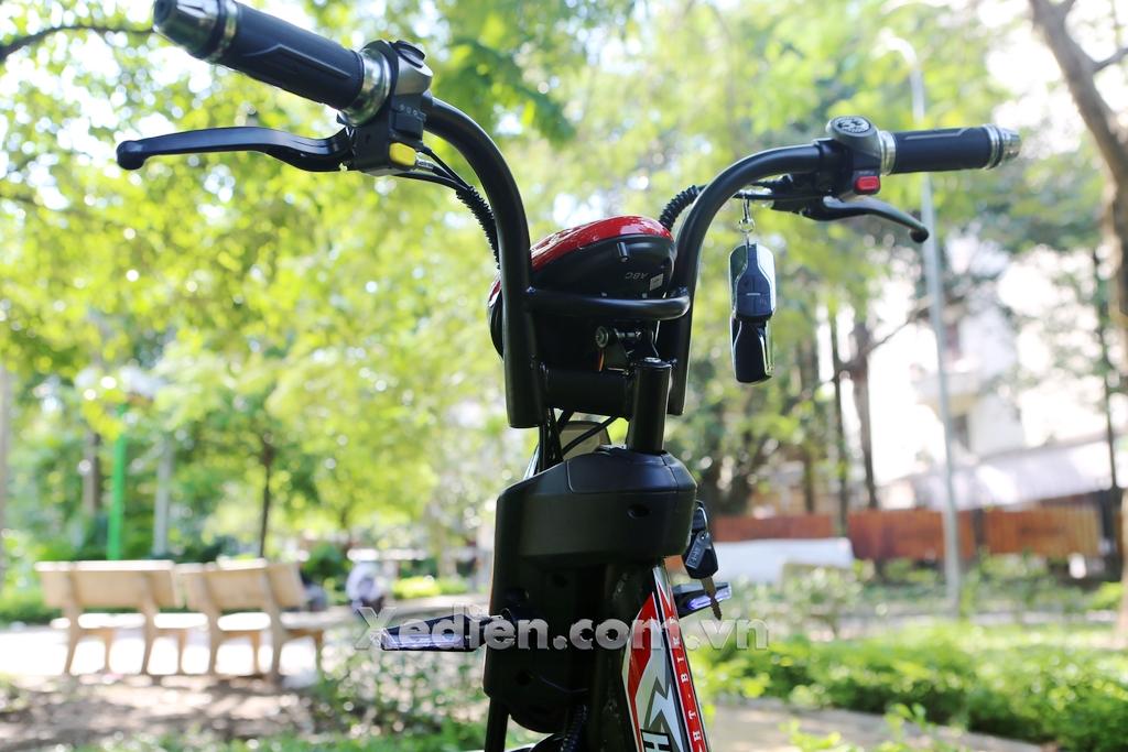 tay lái dáng xe điện htbike h9