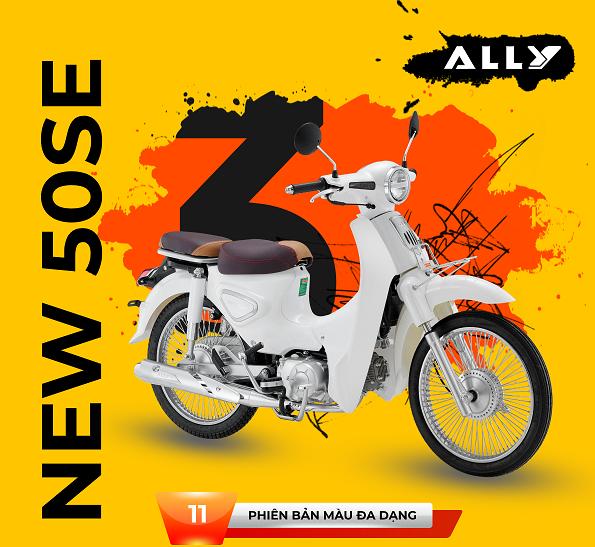 Rinh ngay xe máy 50cc Cub New Ally 50SE du xuân năm 2021